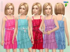 Square Sequin Dress by lillka at TSR via Sims 4 Updates