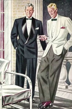 White dinner jacket became popular in 1931 Possible style with bow tie