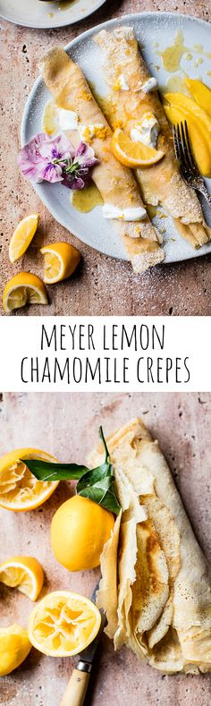 Meyer Lemon Chamomile Suzette Crepes with Greek Yogurt | halfbakedharvest.com @hbharvest