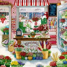 Blossom's Flower Shoppe - Counted cross stitch pattern in PDF format