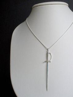 Sword Pendant Sterling Silver Princess Bride by AlexisRomeoJewelry, $95.00