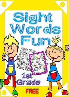 Sight Words Fun in First Grade FREEBIE (B and Color)