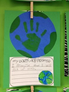 Earth Day art and writing (with freebie cause & effect flip page).