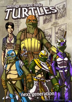 TMNT Turtles - The next Generation colored by *therealRIZ on deviantART