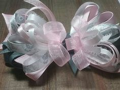 Pink and gray hair bow Over the top/ boutique style hair bow/pageant bow/ big bow/baby hair bow/ baby headband/birthday bow/ smash cake . by SweetDesignsbyCindy on Etsy