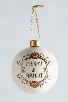 Ceramic Cheer Ornament - anthropologie.com
