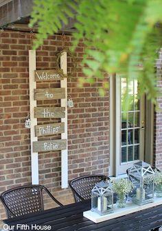 diy fence board patio sign