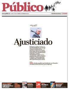 portadas diario público . 11 años de inhabilitación para el juez Baltasar Garzón