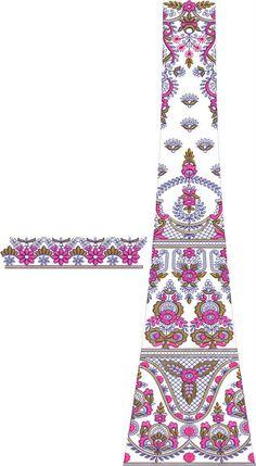 Lehengha / kali Embroidery Design Textile Patterns, Embroidery Patterns, Textiles, Pola Rok, Old Images, Lehenga Designs, Embroidery Fashion, Rangoli Designs, Embroidered Blouse