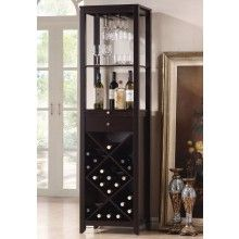 ACME Furniture Casey Wine Cabinet in Wenge