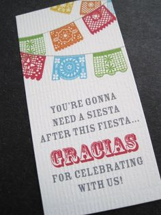Favor tags- Cinco de Mayo Celebration