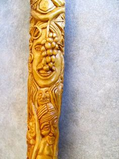 The Tree of Humanity Walking Stick by RusticJohn.