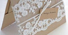 Lace wedding invitations Rustic wedding by TheWeddingInvitation | Inviti di nozze | Pinterest | Lace Wedding Invitations, Lace Weddings and Invitations