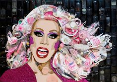 Jason Mercier specializes in celebrity collages done with the celebrity's own discarded objects.