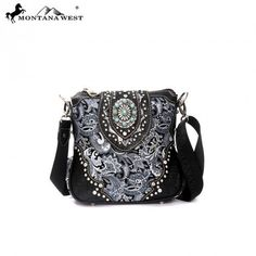 WESTERN CONCHO MESSENGER BAG - BLACK Montana, Westerns, Messenger Bag, Diaper Bag, Shoulder Bag, Purses, Bags, Collection, Products