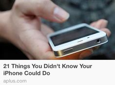 Pretty cool iPhone tricks: http://aplus.com/a/iphone-tricks-you-didnt-know
