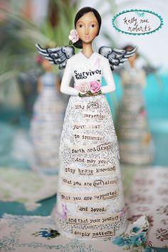 Kelly Rae Roberts Figure-Survivor | Garden Gallery Iron Works