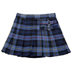Girls French Toast Plaid Two-Tab Scooter School Uniform (192.975 IDR) ❤ liked on Polyvore featuring skirts