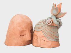 scultura nel vento pezzo unico in terracotta