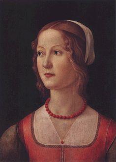 Domenico Ghirlandaio, 1485 Portraits of  Women in Italian Renaissance Painting #TuscanyAgriturismoGiratola