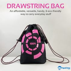 An affordable, versatile, handy, & eco-friendly way to carry everyday stuff. #bags #drawstringbag #versatile #wholesale #promotion #Marketing #Giveaways #Trending #gifts #giftideas Promotion Marketing, Promotional Bags, Picnic Bag, Wholesale Bags, Luggage Bags, Giveaways, Drawstring Backpack, Eco Friendly, Backpacks
