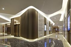 Innenarchitektur des Kinos für Palace Kinos am Sincere Plaza, Chongqing, China: - place to go - Theater Hotel Lobby Design, Mall Design, Retail Design, Lobby Interior, Office Interior Design, Interior Architecture, Corporate Interiors, Office Interiors, Plafond Staff