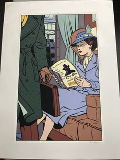 Benoit, Ted - Sérigraphie Archives internationales - Marque Jaune 53-93 - Blake & Mortimer (1995) - W.B.