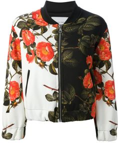 Love this: Floral Print Bomber Jacket by the textile rebels.