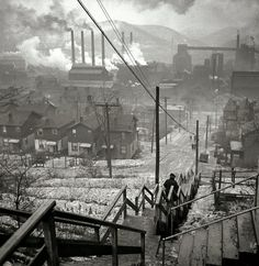The South Side of Pittsburgh - 1940's.