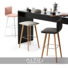 Jalis stools from Cor, designed by Jehns + Laub. Good Company, Dining Room Furniture, Luxury Furniture, Chair Design, Bar Stools, Life Is Good, Interior Design, Table, Home Decor