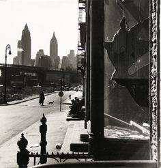 Rebecca Lepkoff. Broken Window, South Street, NYC, 1947