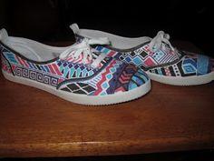 The Polished Designer: DIY: Tribal Shoes