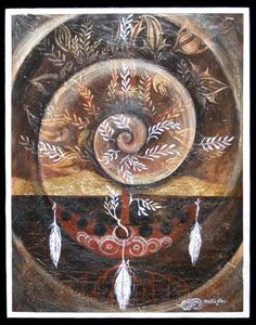 Tihei Mauri Ora series #5 Robin Slow Maori Art painting new zealand kura contemporary art gallery