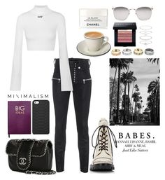 """Без названия #163"" by tramapff on Polyvore featuring мода, Unravel, Off-White, Accessorize, Warner Bros., Linda Farrow, Chanel, Bobbi Brown Cosmetics, Alexander Wang и Sloane Stationery"