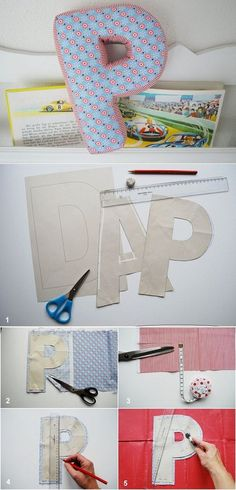 DIY Alphabet Letter Pillow great way to personalize a child's room.You can even spell out their name and hang it on a wall.Great for all skill levels of sewing.