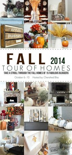 Beautiful Fall Home Tours with Decorating Ideas just in time for Thanksgiving guests!