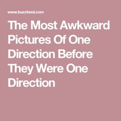The Most Awkward Pictures Of One Direction Before They Were One Direction