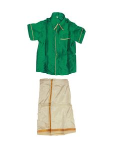 Green shirt dhoti for boys .. www.princenprincess.in