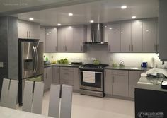 20 flat gray u-open kitchen design 2016 Kitchen Design Open, Open Kitchen, Modern Kitchen Interiors, Kitchen Cabinets, Flat, Bedroom, House, Home Decor, Home