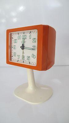 Vintage Pop Art Tulip Space Age Germany Retro Orange Peter Table Clock RARE | eBay