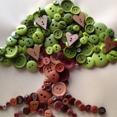 Tree of hearts Button Art