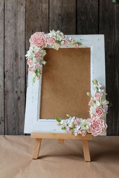 Frame for wedding photo All flowers made from polymer clay ClayCraft by Deco. All flowers are handmade from air dry polymer clay ClayCraft by All Flowers, Paper Flowers, Diy And Crafts, Paper Crafts, Creation Deco, Polymer Clay Flowers, Wedding Frames, Wedding Photos, Wedding Ideas