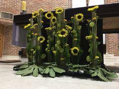 Sunflower flower installation