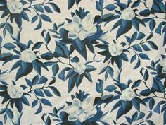 Lauren Liess Magnolia in China Blue - By the Yard