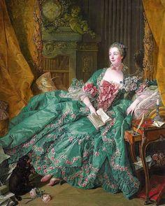 Portrait of Madame de Pompadour by French painter François Boucher, 1756. In the collection of Alte Pinakothek, Munich
