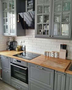 Most Popular Kitchen Design Ideas on 2018 & How to Remodeling design ideas becomes one of the important points - cooking will feel easier and fun - kitchen renovation - anti kitchen sink clogged - clean kitchen Home Decor Kitchen, Kitchen Interior, Kitchen Dining, Kitchen Ideas, Grey Kitchens, Cool Kitchens, Grey Kitchen Designs, Design Kitchen, Small Space Kitchen