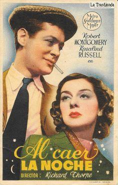 Robert Montgomery & Rosalind Russell - Mini Herald - Al Caer la Noche - Programa de Cine | La Trastienda Antigua