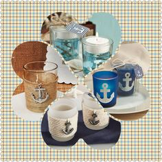 Anchor Candle Holder Nautical Wedding Favors, Anchor, Candle Holders, Candles, Mugs, Tableware, Dinnerware, Tumblers, Tablewares