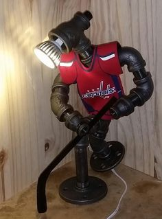 A personal favorite from my Etsy shop https://www.etsy.com/listing/473643862/steampunk-capitals-hockey-lamp