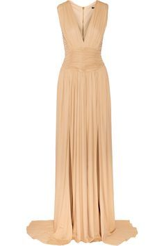 Shop on-sale Balmain Ruched stretch-jersey gown. Browse other discount designer Dresses & more on The Most Fashionable Fashion Outlet, THE OUTNET.COM